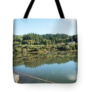 Rusty Railing And Reflection Tote Bag