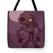 Rusty Zombie Robot Tote Bag