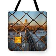 Rva Lock Bridge Tote Bag