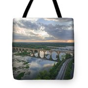 Rva Sunset Train Bridge Style Tote Bag