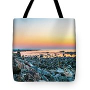 Rye, New Hampshire Sunrise Cairns Tote Bag