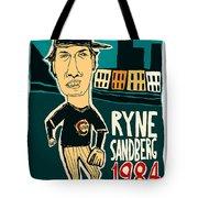 Ryne Sandberg Chicago Cubs Tote Bag
