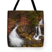 Ryuzu Falls Near Nikko In Japan In Autumn Tote Bag