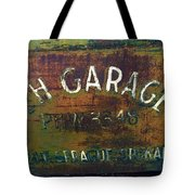 S And H Garage Tote Bag
