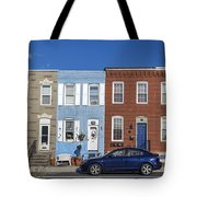 S Baltimore Row Homes - Wide Tote Bag