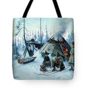 Saami Family At The Hut Tote Bag