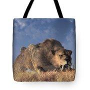 Saber-toothed Hunter Tote Bag
