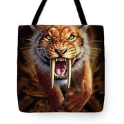 Sabertooth Tote Bag by Jerry LoFaro