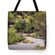 Sabino Canyon Road Tote Bag