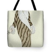 Sable Coat With White Fox Trim Tote Bag
