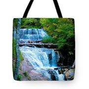 Sable Falls At Pictured Rocks National Lakeshore Trail, Michigan  Tote Bag