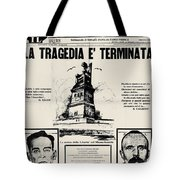 Sacco And Vanzetti Front Page Tote Bag