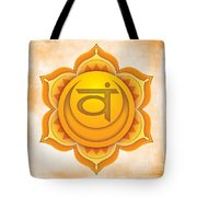 Sacral Chakra Tote Bag by David Weingaertner