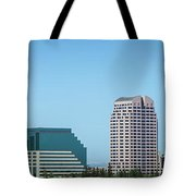 Sacramento California Cityscape Skyline On Sunny Day Tote Bag
