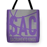 Sacramento Kings City Poster Art Tote Bag