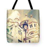Sacre Coeur Church Vintage Shabby Chic Style Tote Bag