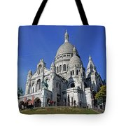 Sacre Coeur In The Montmartre Area Of Paris, France  Tote Bag
