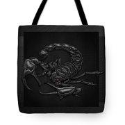 Sacred Black Scorpion On Black Canvas Tote Bag