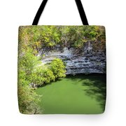 Sacred Cenote Vertical View Tote Bag