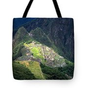 Sacred City Of Machu Picchu Tote Bag