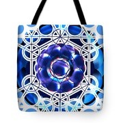 Sacred Geometry Blue Shapes Background Tote Bag