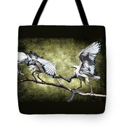 Sacred Ibis Photobombing Tote Bag