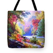 Sacred Landscape Meditation Tote Bag