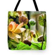 Sacred Lotus Painted Series Tote Bag