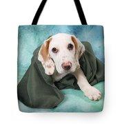 Sad Dog On Pastels Tote Bag