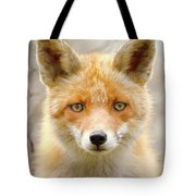 Sad Eyed Fox Of The Lowlands - Red Fox Portrait Tote Bag