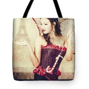 Sad French Pin-up Woman. Loss In The City Of Love Tote Bag