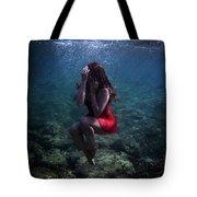Sad Mermaid Tote Bag