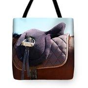 Saddle In  Tote Bag
