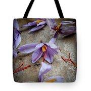Saffron Flower Tote Bag