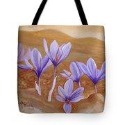 Saffron Flowers Tote Bag
