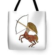 Sagittarius Tote Bag by Barbara McConoughey