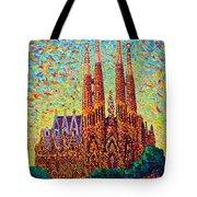 Sagrada Familia Barcelona Spain Tote Bag