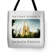 Sagrada Familia With Catalonia's Flag Tote Bag