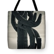 Saguaro Cactus Armed And Twisted Tote Bag
