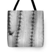 Saguaro Cactus Close-up  Bw Tote Bag