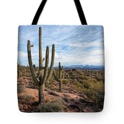 Saguaro Fields Tote Bag