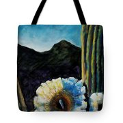 Saguaro In Bloom Tote Bag