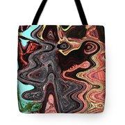 Saguaro Sore Abstract Tote Bag