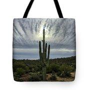 Saguaro Sun Break Clouds Tote Bag