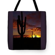 Saguaro Sunset Silhouette #2 Tote Bag