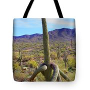 Saguaro With Down Twist Tote Bag