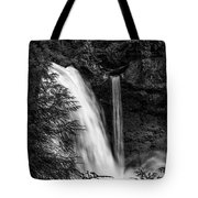 Sahalie Falls No. 4 Bw Tote Bag