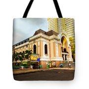 Saigon's Opera House Vietnam Tote Bag
