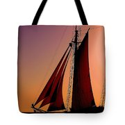 Sail At Sunset Tote Bag