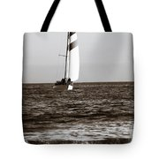 Sail Boat Coming Ashore 2 Tote Bag